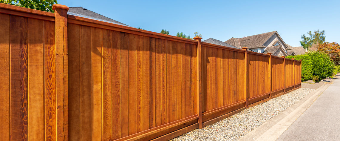 Wooden property fencing